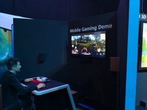 Gaming in der Demo Area