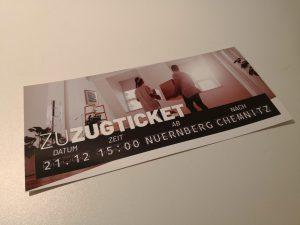 Ticket für den Sonderzug