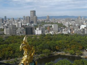 Blick auf Osaka